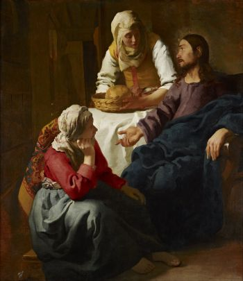 Johannes Jan Vermeer - Christ in the House of Martha and Mary - Google Art Project