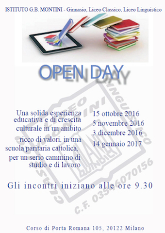 Montini open day