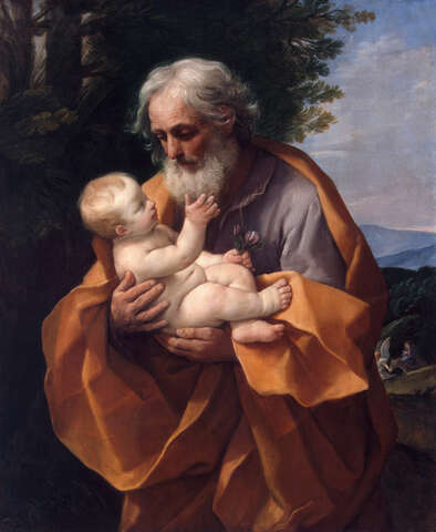 St Joseph with Infant Christ in his Arms*oil on canvas*126 x 101 cm*1620s